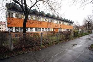 Turnhalle in der Meyerbeerstraße (Faksimilee: Berliner Kurier / Gudath)